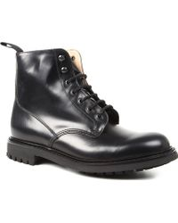 Church's Derby Leather Ankle Boots Black - Lyst