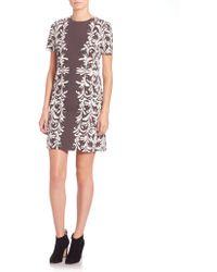 Tory Burch | Floral-print Ponte Dress | Lyst