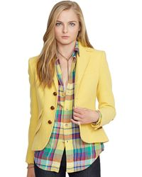 Polo Ralph Lauren Elbow Patch Hacking Jacket - Lyst