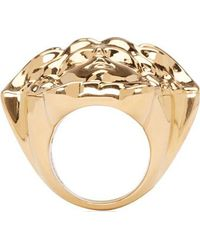 Versace Gold Medusa Head Ring - Lyst
