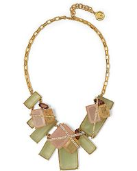 Vince Camuto Crystal Cage Gem Necklace - Lyst