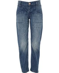 River Island Mid Wash Denim Darcy Slouch Jeans - Lyst