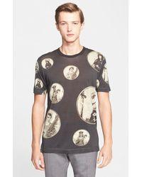Dolce & Gabbana Print Silk & Cotton T-Shirt - Lyst