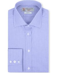 Turnbull & Asser End-on-end Slim-fit Single-cuff Shirt - Lyst
