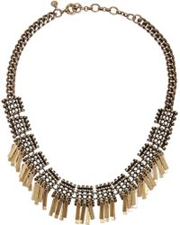 J.Crew Geometric Fringe Gold-plated Necklace - Lyst