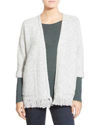 Madewell | 'memento' Fringe Cardigan Sweater | Lyst