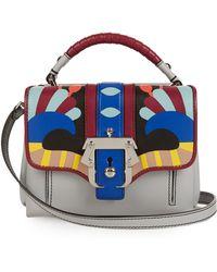 Paula Cademartori - Dun Dun Colour-block Leather Shoulder Bag - Lyst