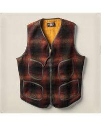 RRL - Plaid Wool Winford Vest - Lyst