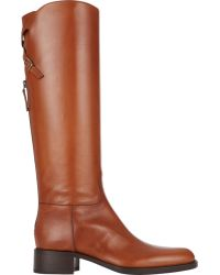 Sartore Back-Zip Riding Boots - Lyst