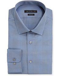 John Varvatos Regular Fit Checked Poplin Dress Shirt - Lyst
