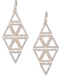 ABS By Allen Schwartz - Diamond-shaped Pave Drop Earrings - Lyst