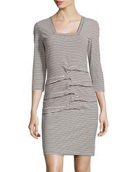 Nicole Miller 34 Sleeve Jersey Dress - Lyst