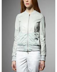 Patrizia Pepe Leather Jacket With Nylon Inserts - Lyst