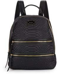 Nicole Miller - Sonya Embossed Backpack - Lyst