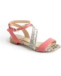 Pour La Victoire Elaine Leather Sandals - Lyst