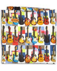 Eton of Sweden Guitar Print Pocket Square brown - Lyst