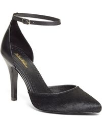 Brooks Brothers Haircalf Pumps with Ankle Strap - Lyst