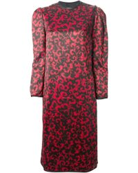 Yves Saint Laurent Vintage Printed Chinese Dress - Lyst