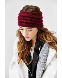 Ecote - Super Wide Ribbed Ear Warmer - Lyst