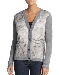 Mantu Prisma-Print Knit Cardigan - Lyst