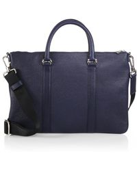 Bally Migan Leather Brief - Lyst