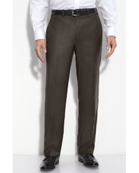JB Britches - Flat Front Wool & Cashmere Trousers - Lyst