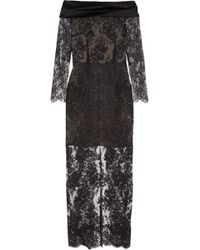 Alessandra Rich Satin-trimmed Metallic Lace Gown - Lyst