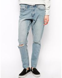 Cheap Monday Boyfriend Jean with Rips - Lyst