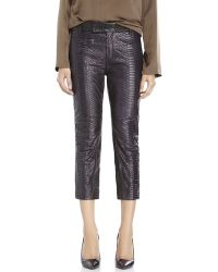 Haider Ackermann Python Visconti Leather Pants - Lyst
