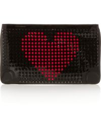 Christian Louboutin Loubiposh Spiked Patent-Leather Clutch - Lyst