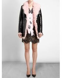 Christopher Kane Shearling Lined Coat - Lyst