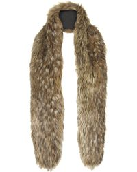 Topshop Long Faux Fox Fur Stole - Lyst