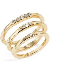 ABS By Allen Schwartz - Goldtone Scattered Ring Set - Lyst