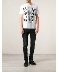 Diesel Black Gold Mixed Print T-shirt - Lyst