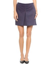 Tory Burch Klarissa Pleated Skirt Tory Navy Daisy Dots - Lyst