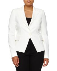 Donna Karan New York Tuxedo One-Button Jacket - Lyst