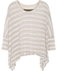 Enza Costa Striped Modalblend Top - Lyst
