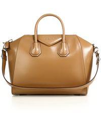 Givenchy   Antigona Medium Glazed Leather Satchel   Lyst
