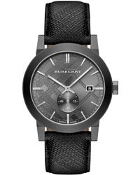 Burberry Mens The City Gray Stainless Steel Watch - Lyst