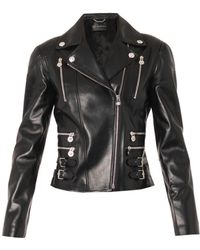 Versace Classic Leather Biker Jacket - Lyst