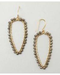 Wendy Mink - Gold And Pyrite Bead Drop Necklace - Lyst