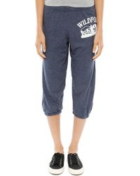 Wildfox Carriage Ride Cropped Morning Sweats - Lyst