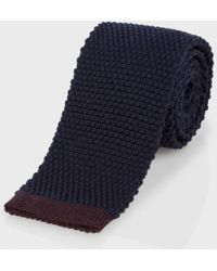 Paul Smith - Men's Navy Wool Knitted Tie - Lyst