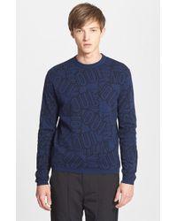 Kenzo Men'S 'Oui Non' Allover Jacquard Sweater - Lyst