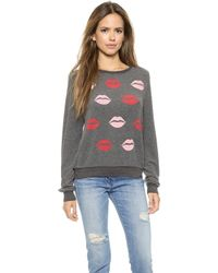Wildfox Make Out Party Pullover - Dirty Black - Lyst