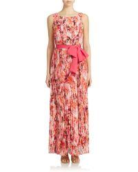 Eliza J Print Chiffon Maxi Dress - Lyst