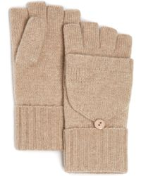 C By Bloomingdale's - Cashmere Pop-top Mittens - Lyst