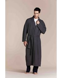 Aitken & Co. Black Bath Robe - Lyst