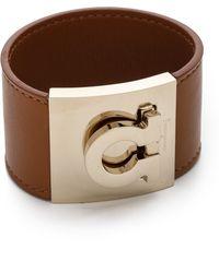 Ferragamo Wide Gancio Cuff Bracelet Palissandro - Lyst