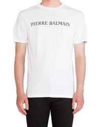 Pierre Balmain White Tee - Lyst